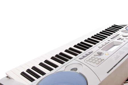 synthesizer: synthesizer  keyboard, isolated in white