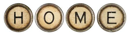 Home, close up on old grunge typewriter keys  Stock Photo - 9414163