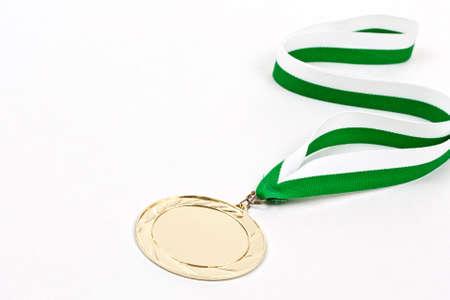 winning idea: Blank winning medal, in white background