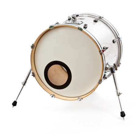 bass drum: Drum isolated on white background