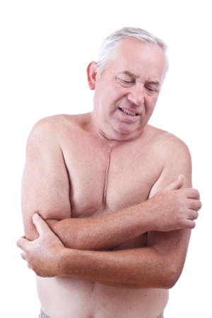Senior man having pain in his elbow Stock Photo - 10508031