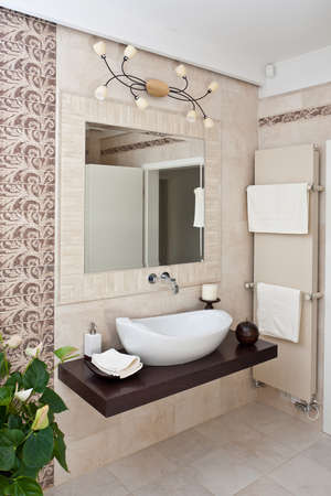 Modern style interior design of a bathroom Stock Photo - 12063445