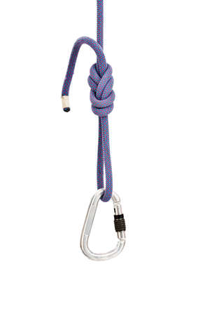 rapell: Isolated climbing equipment - carabiner and rope