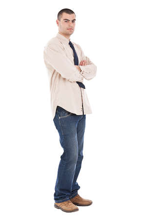 Businessman with arms crossed isolated on white Stock Photo - 13683316