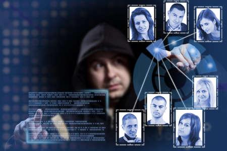 hacker working on modern technology