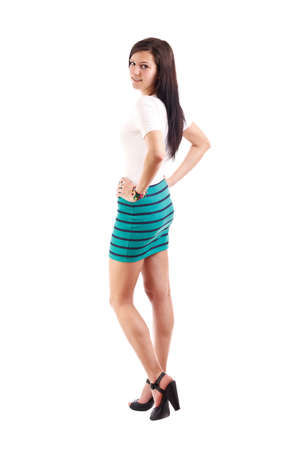 Full length portrait of a confident young female  Stock Photo