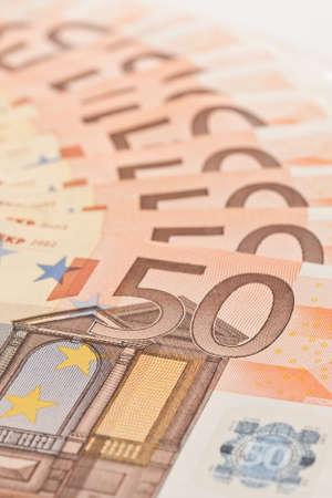 background of 50 euro money banknotes  photo
