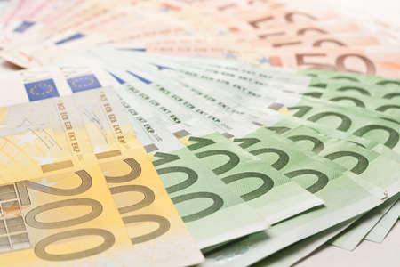 background of euro money banknotes  photo