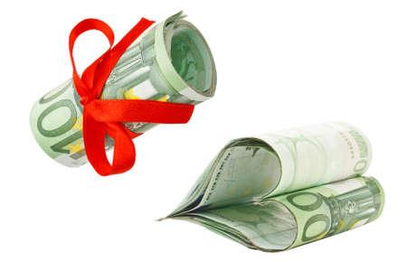 euromoney: Euro money isolated on white background