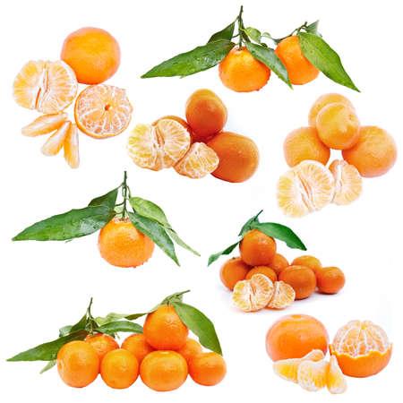 sours: Set of mandarin sweet fruits isolated on white background