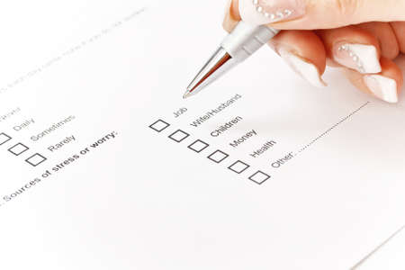 Close up of a medical history form Stock Photo - 15127404