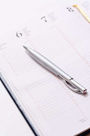 daily planner: Daily planner on white background  Stock Photo