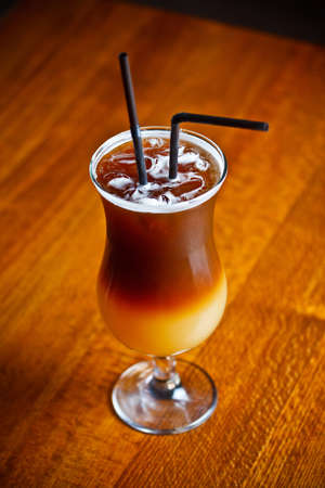 Espresso coffee with finnish vodka, orange juice, grapefruit juice and honey  photo
