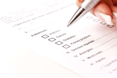 questionaire: Cerca de un formulario de historia cl�nica