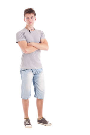 Full length portrait of a young man, isolated on white background Stock Photo - 15388127