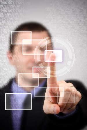 Man using technologies of the future Stock Photo - 16489259