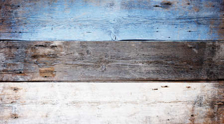 Flag of Estonia painted on grungy wood plank background  Stock Photo - 16571078