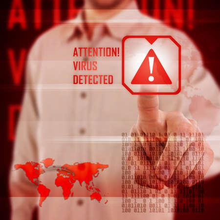 Virus alert in digital interface Stock Photo - 17157844