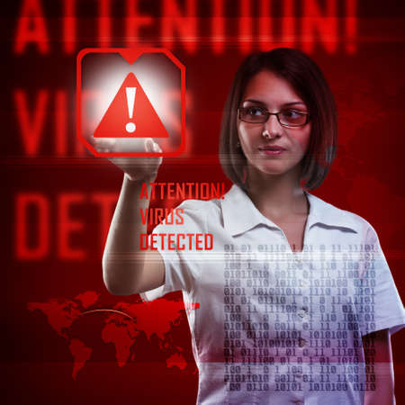 Digital concept, computer virus detection photo