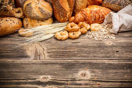 prodotti da forno: Assortimento di prodotti da forno con lo spazio per il testo