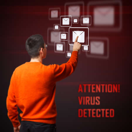 Virus detected from your digital interface system Stock Photo - 17450346