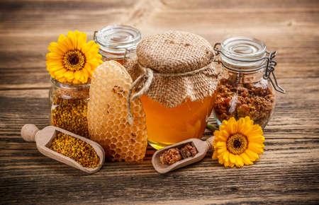 Still life with honey product Stock Photo - 17653119