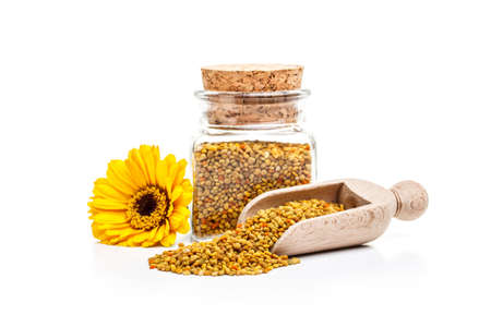 Pollen granules in glass jar Stock Photo - 17786445