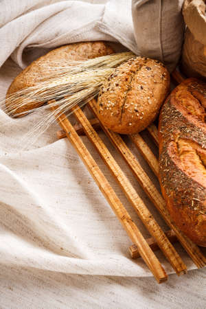 Rye bread on wooden chopping board Stock Photo - 17787743