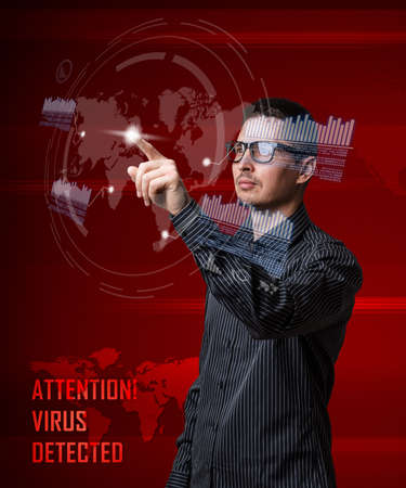 Digital concept, computer virus detection photo