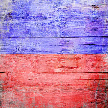 Echo,international maritime signal flag painted on grungy wood plank background  photo