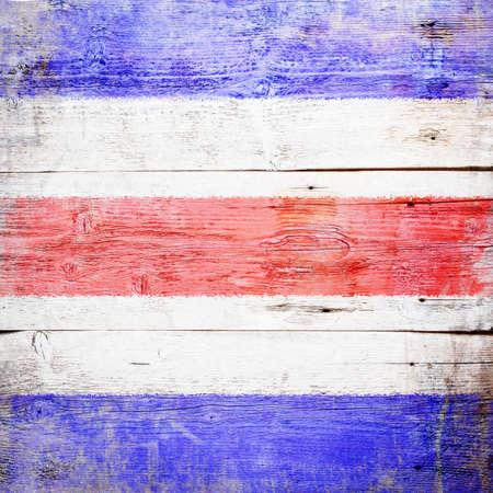 Charlie, international maritime signal flag painted on grungy wood plank background Stock Photo - 18117596