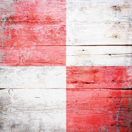 Uniform, international maritime signal flag painted on grungy wood plank background Stock Photo - 18147888