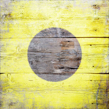 India, international maritime signal flag painted on grungy wood plank background  photo
