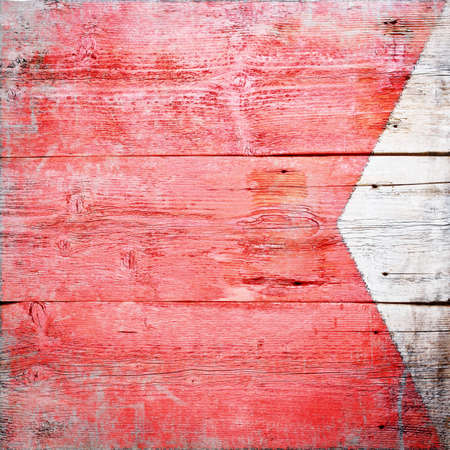 Bravo, international maritime signal flag painted on grungy wood plank background  photo