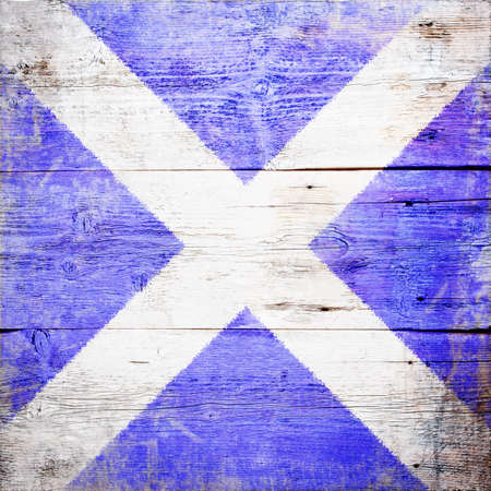 maneuvering: Mike, international maritime signal flag painted on grungy wood plank background