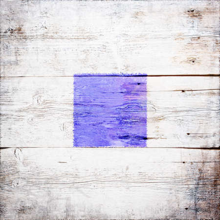 Sierra, international maritime signal flag painted on grungy wood plank background  photo