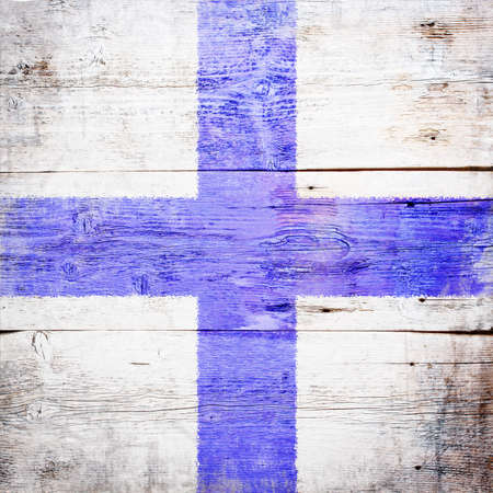 Xray, international maritime signal flag painted on grungy wood plank background  photo