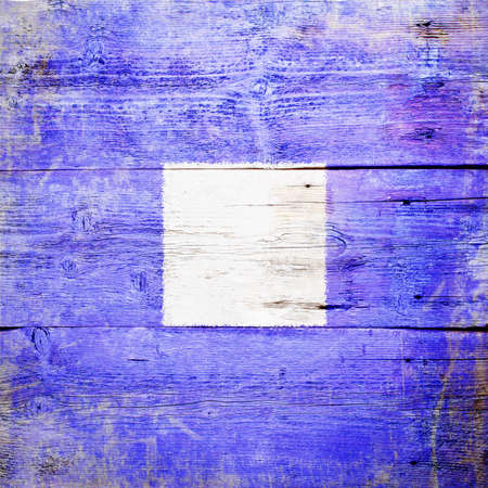 Papa, international maritime signal flag painted on grungy wood plank background  photo