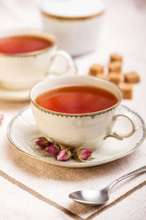 breackfast: Breackfast black tea in vintage cup