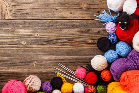 gomitoli di lana: Cornice della palla colore