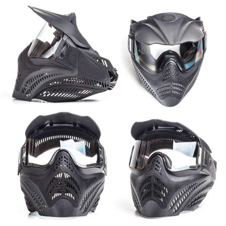 paintball: Paintball mask on white background
