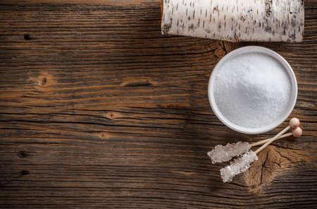 木糖醇對風化木板頂視圖