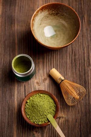 L'image japonais de la cérémonie du thé matcha avec Banque d'images
