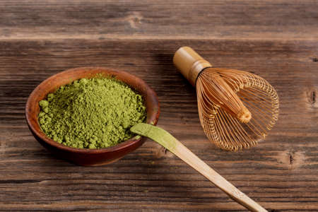 maccha: Japanese green powder matcha tea