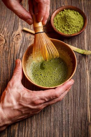 Outils utilisés pour la cérémonie du thé japonais Banque d'images