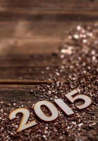 2015 év fából Stock fotó