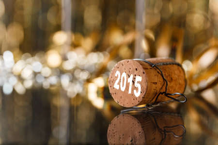 Champagne cork new years 2015 photo
