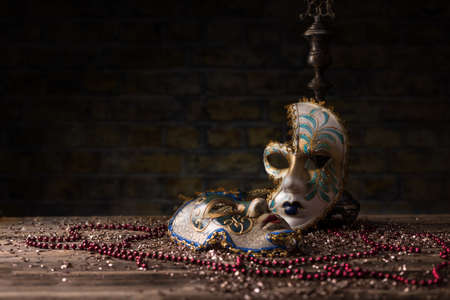 carnivale: Carnival mask composition with necklae