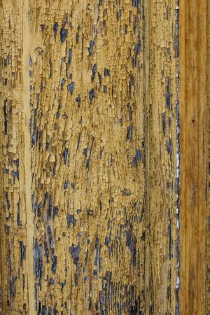 decrepit: Decrepit yellow old wooden background