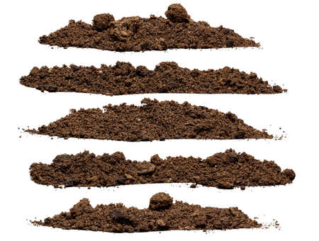 Set pile of soil isolated on white background Zdjęcie Seryjne - 36479134